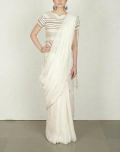 White linen sarees