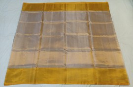 Uppada tissue sarees with gold border