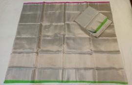 Silver uppada tissue sarees