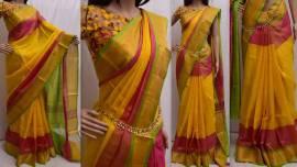 Yellow uppada special border sarees
