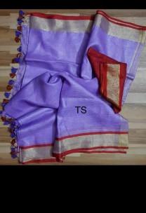 Purple linen sarees