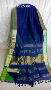 Dark blue linen sarees