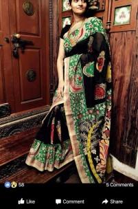 Black chenoori silk sarees