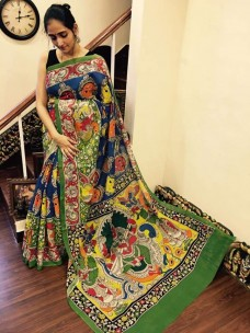 Blue and green chenoori silk sarees