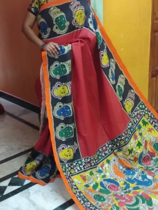 Red chenoori silk sarees