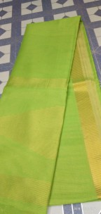Apple Green tussar tissue silk sarees