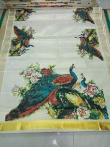 Kerala tissue mural sarees-6