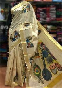 Kerala tissue mural sarees-1