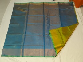 Blue with green uppada tissue sarees
