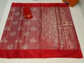 Red uppada tissue print sarees