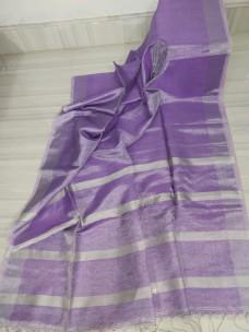 Violet Tissue linen sarees