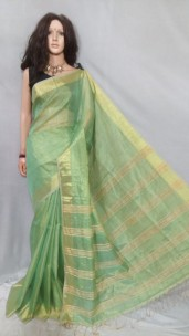 Light green tissue linen sarees