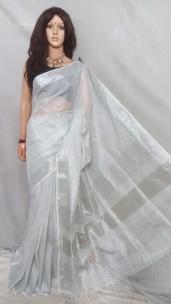 Silver tissue linen sarees