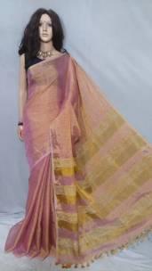 Light pink tissue linen sarees