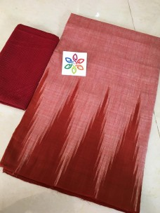 Red pure ikkat cotton sarees