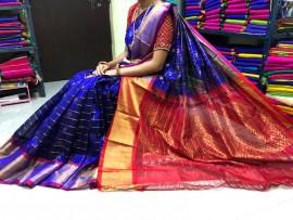 Indigo blue kuppadam sarees