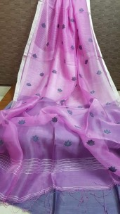 Light purple pure matka by resham sarees