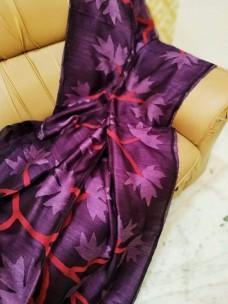 Dark purple pure matka muslin jamdani sarees
