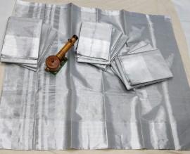Uppada silver tissue cotton sarees