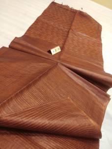 Brown pure Tussar gicha stripes sarees