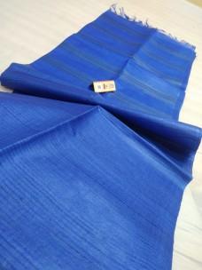 Blue pure Tussar gicha stripes sarees