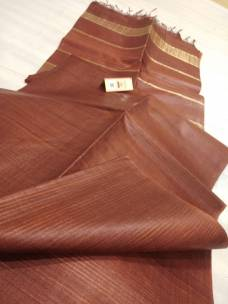 Maroon red pure Tussar gicha stripes sarees