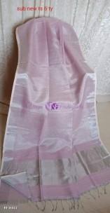 Baby pink linen tissue sarees