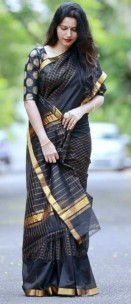 Black uppada Mahanathi checks sarees