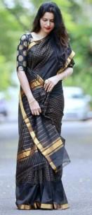 Black uppada Mahanathi checks sarees