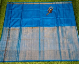 Light blue uppada half tissue sarees