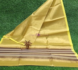 Yellow uppada tissue cotton sarees