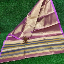 Light Purple uppada tissue cotton sarees
