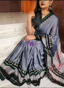 Grey narayanpet cotton sarees
