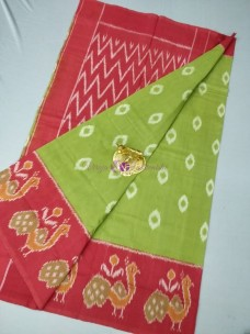 Green ikat cotton sarees