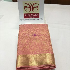 Light pink pure crepe sarees