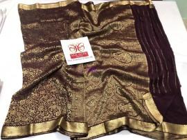 Black pure crepe sarees