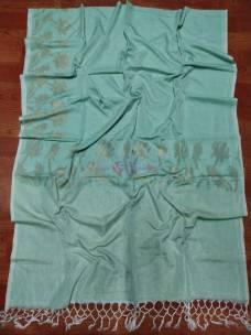 Aqua blue handwoven khadi jamdani sarees