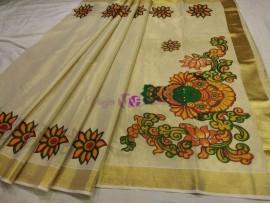 Kerala gold tissue sarees-3