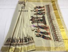 Kerala gold tissue sarees-1