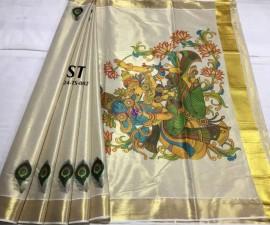 Kerala gold tissue sarees-2