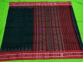 Black with red handloom ikkat cotton sarees
