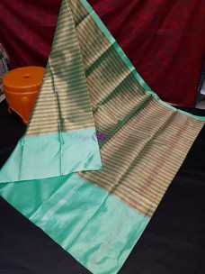 Turquoise uppada tissue by cotton sarees
