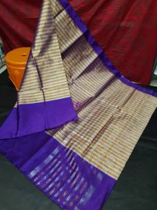 Indigo uppada tissue by cotton sarees