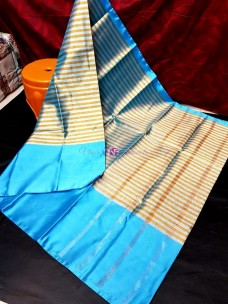 Sky blue uppada tissue by cotton sarees