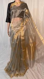 Pure handloom tissue tussar silk sarees