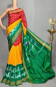 Multicolor handloom ikkat sarees