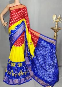 Multicolor handloom ikkat silk sarees