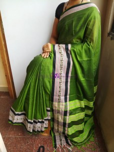 Green Narayanpet cotton sarees