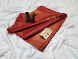 Red pure tussar ghicha sarees