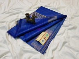 Royal Blue pure tussar ghicha sarees